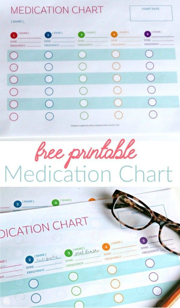 Medication Log Free Printable Free printable, Chart and Logs