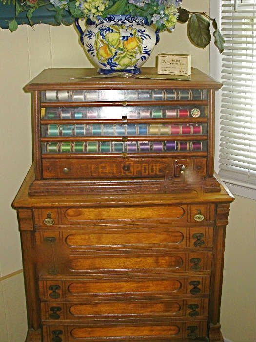 Antique spool cabinets- I absolutely love this and would be thrilled to  have one in - Antique Spool Cabinets- I Absolutely Love This And Would Be