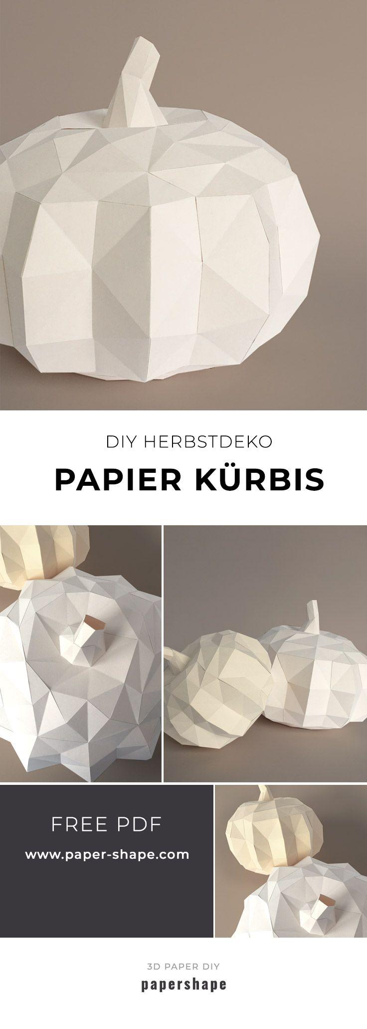 Moderner DIY Kürbis aus Papier basteln