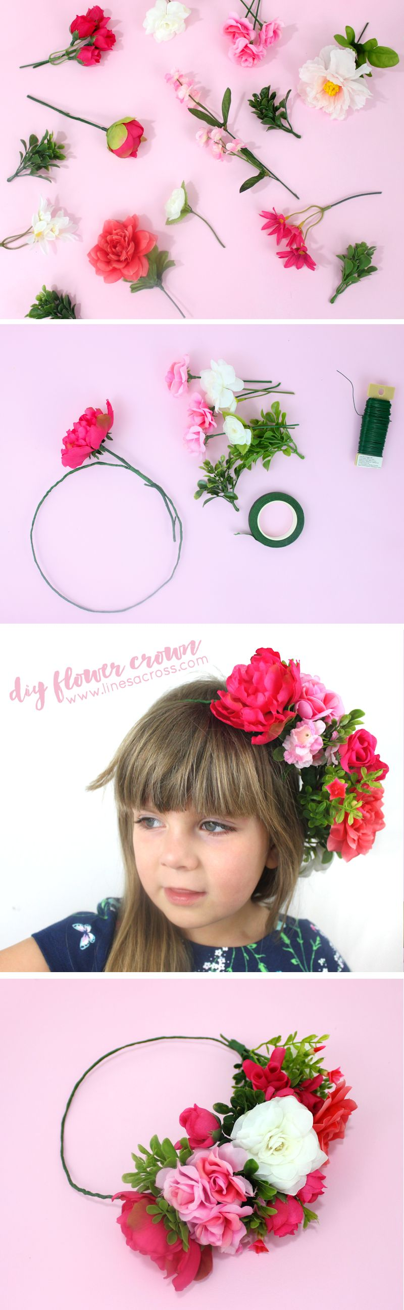 How To Make A Beautiful Flower Crown It Would Be Perfect For Spring