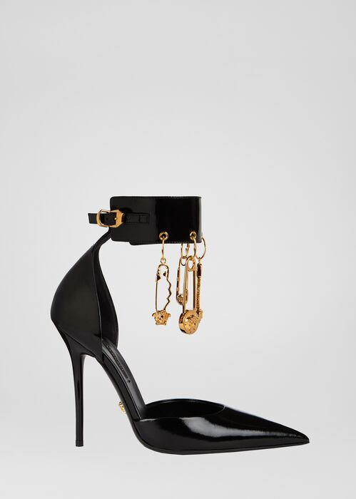Versace Safety Pin Slingback Pumps | Neiman Marcus