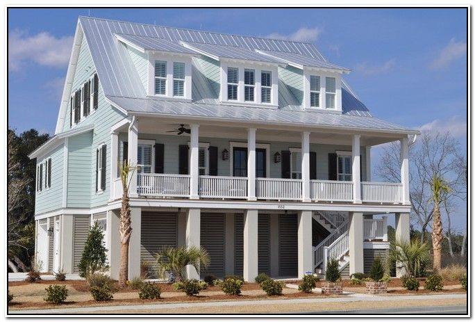 House · Beach House Exterior Design | Exterior Paint Color Combinations ...