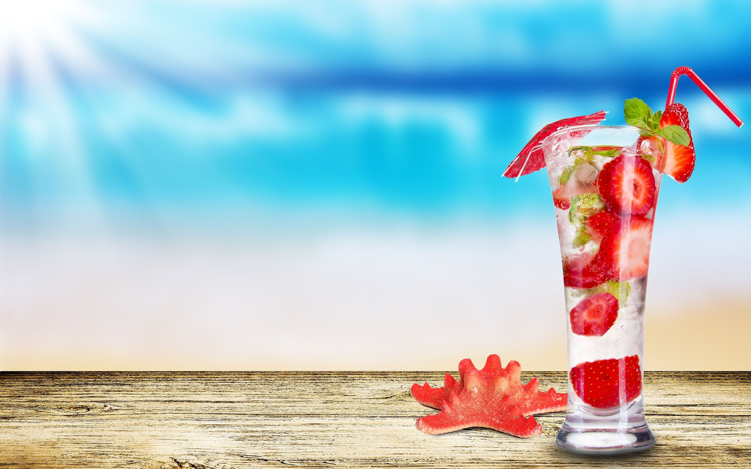 Strawberry Mojito HD Widescreen Desktop Wallpaper Places To