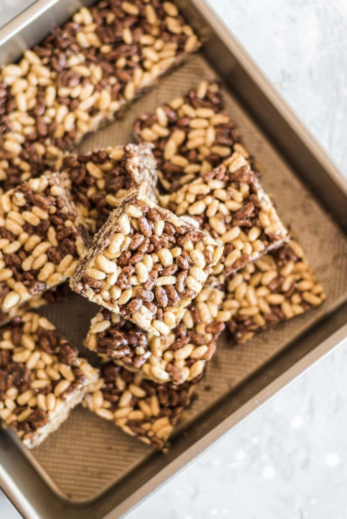 These healthy rice crispy treats are easy to make with just a handful of wholesome ingredients and make the perfect sweet treat to stash in the freezer for a quick snack or dessert. My Favourite Cereal These yummy bars are made with One Degree Sprouted Brown Rice Crisps. You can use the Brown Rice Crisps, … #crispytreats