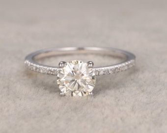 This article is not available -  brilliant Moissanite engagement ring rose gold by popRing on Etsy  - #antiquejewelry #article #available #bridaljewelry #indianjewelry