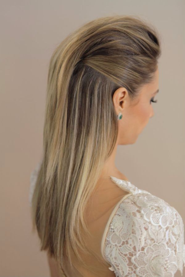 Pompadour Wedding Hair Down Hair Styles Down Hairstyles