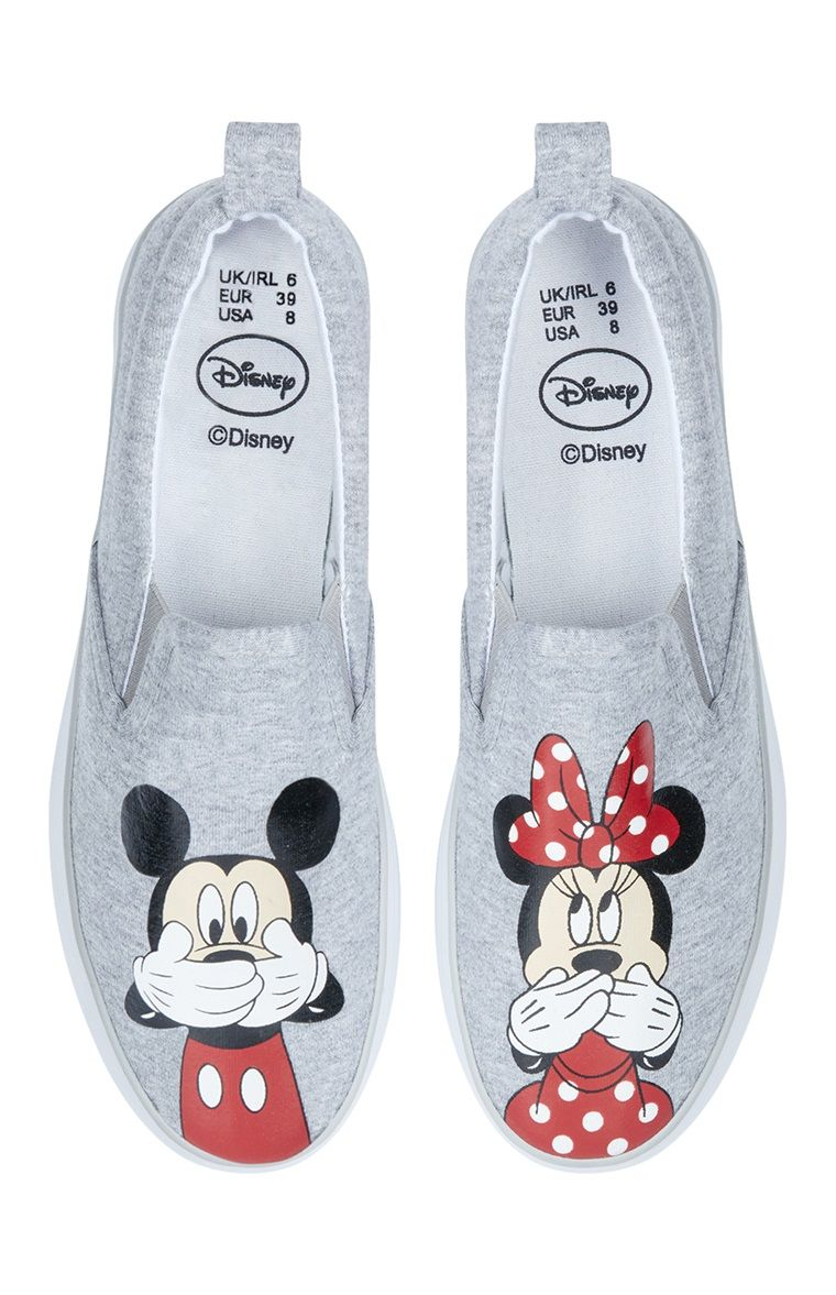 Chaussures Mickey Minnie Mouse grises | Sapatos, Sapatilhas ...