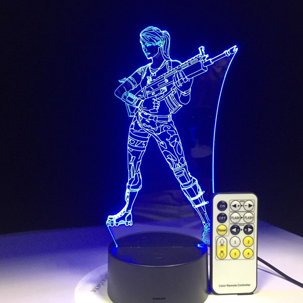 Fortnite Battle Royale Llama Rocket Launcher Scar 3d Night Light Led Lamp With 7 Colors Change Touch Remote Contro 3d Night Light Led Night Light Night Light