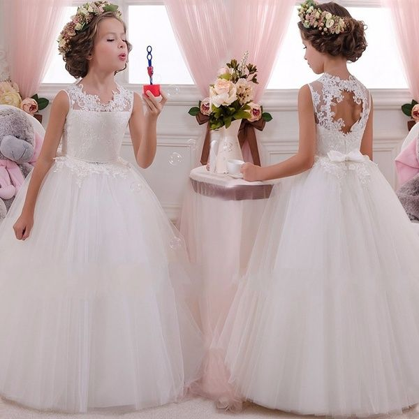 Flower Girl Lace Princess Dress Baby Kids Party Wedding Bridesmaid Formal Dress
