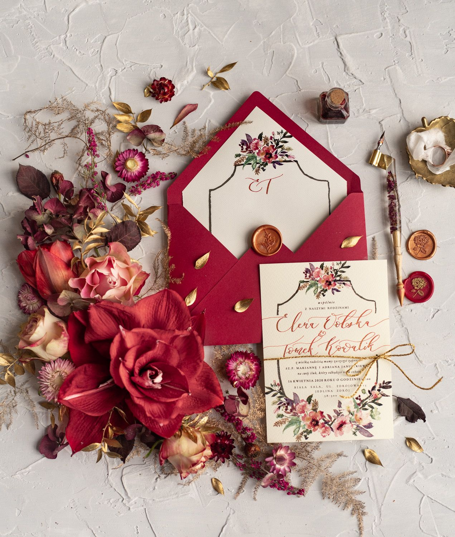 Wedding invitations cards modern caligraphed invites 101