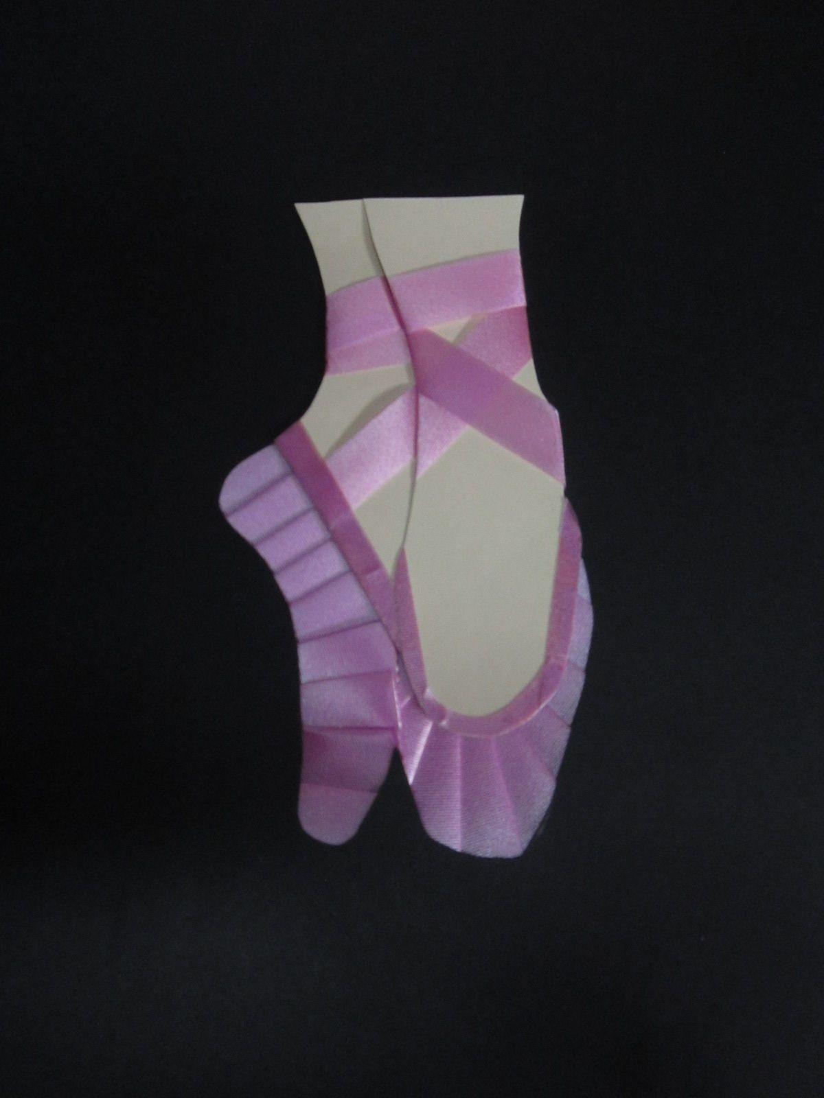 Iris folded ballet slippers | iris folding ideas tarjetas ...