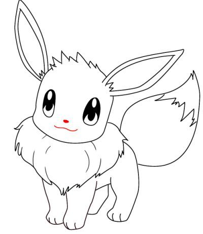 Pokemon Eevee Coloring Pages   ぬり絵, キャラクター 塗り絵, 塗り絵