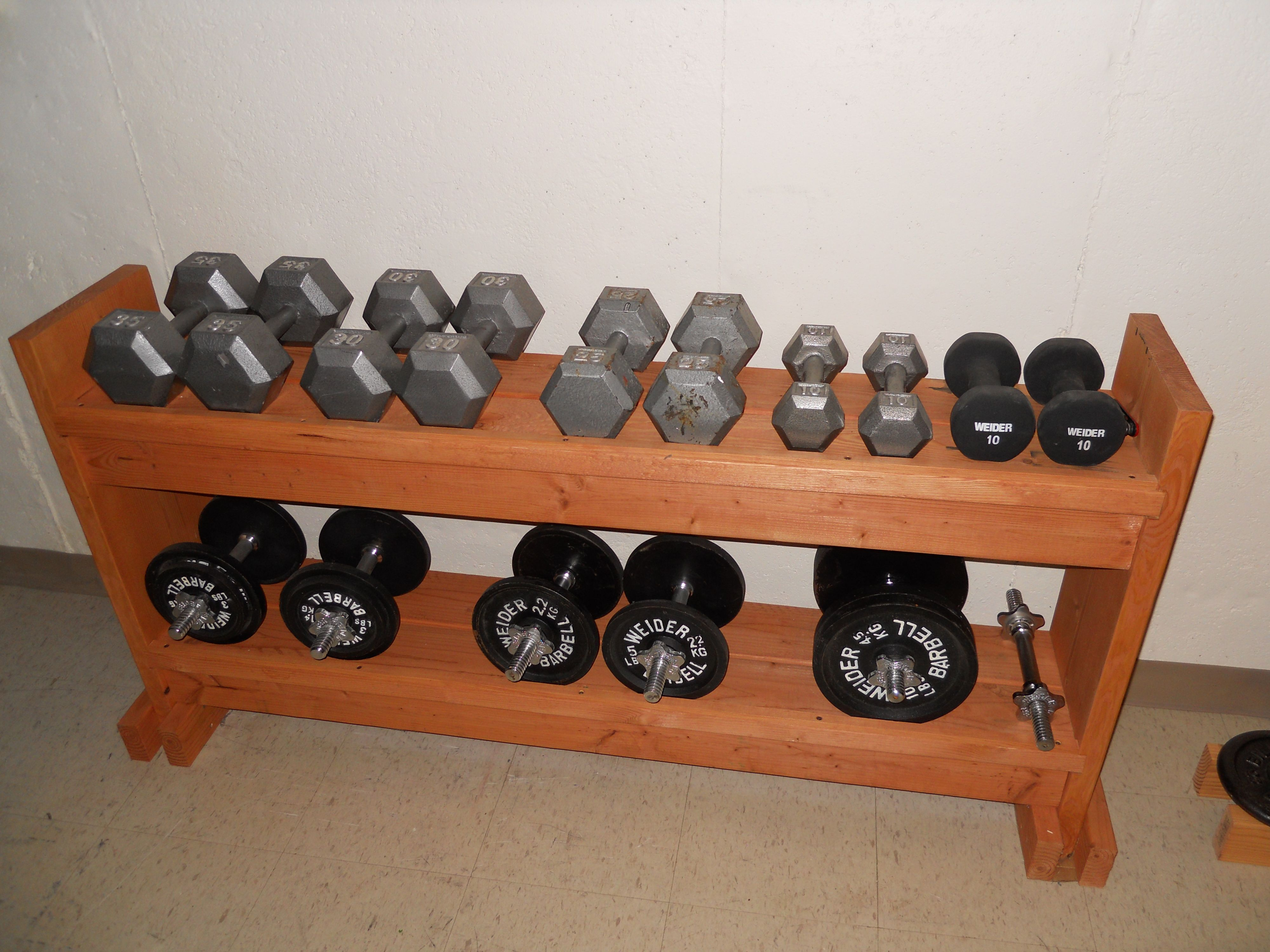 My Diy Weight Rack Possibly From A Girlwalksintoabar Com