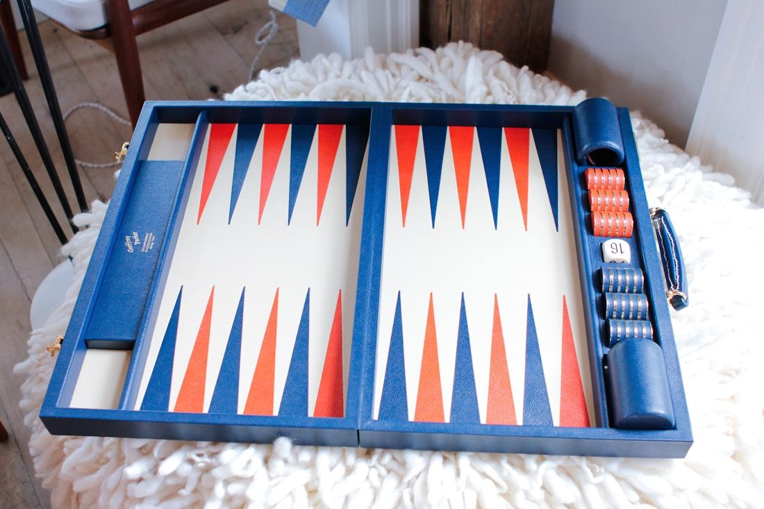 Beautiful backgammon board at MONC XIII ~ http://eye-swoon.com/monc-xiii/