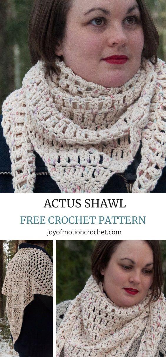 Crochet Actus Shawl Free Crochet Pattern Croch Pinterest