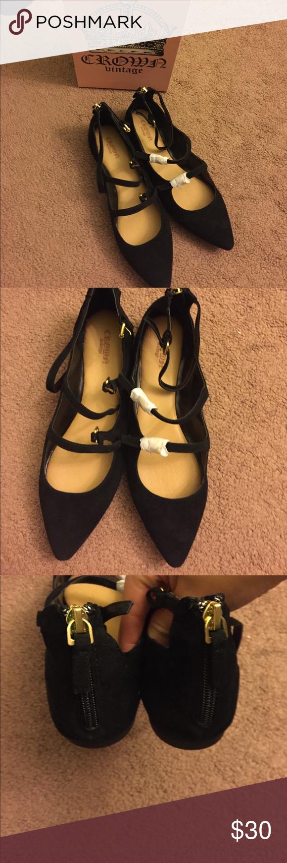 vintage shoes flats Crown