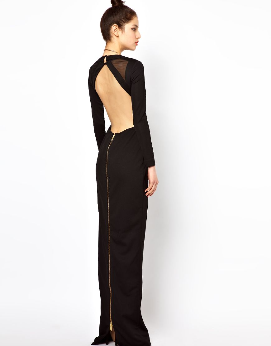 07272fa4687a6f Aqua del ray maxi dress with open zip back if you cant buy jpg 870x1110  Woman