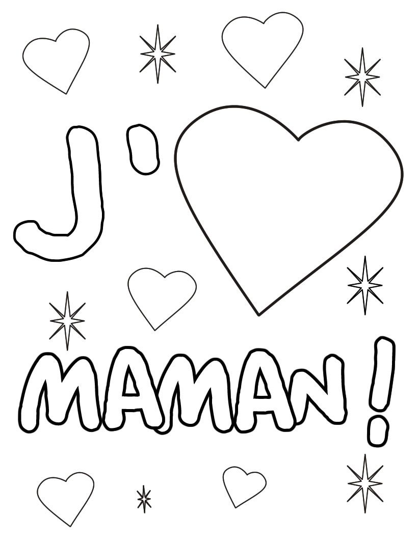 Coloriage Coeur Damitie.Coloriage J Aime Maman Coloriage Fathers Day Gifts Et Father