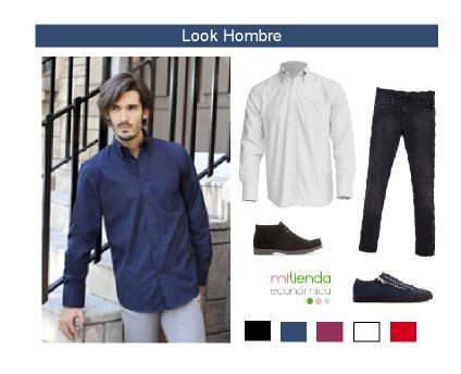 Look hombre con camisa de manga larga. En muchos colores combínala con tus pantalones y zapatos preferidos para lograr tu propio estilo.