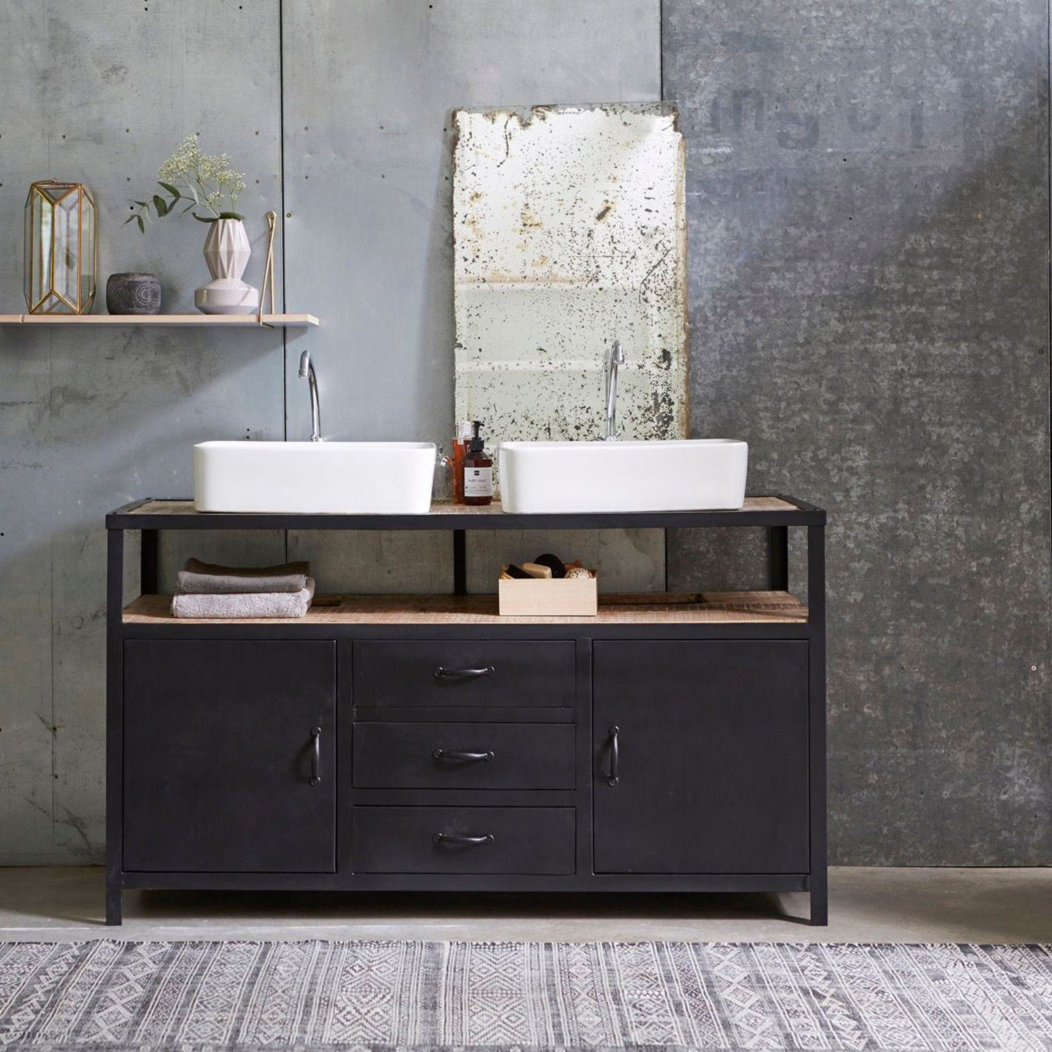 Meuble salle bain bois, design, Ikea, Lapeyre  Meuble sous