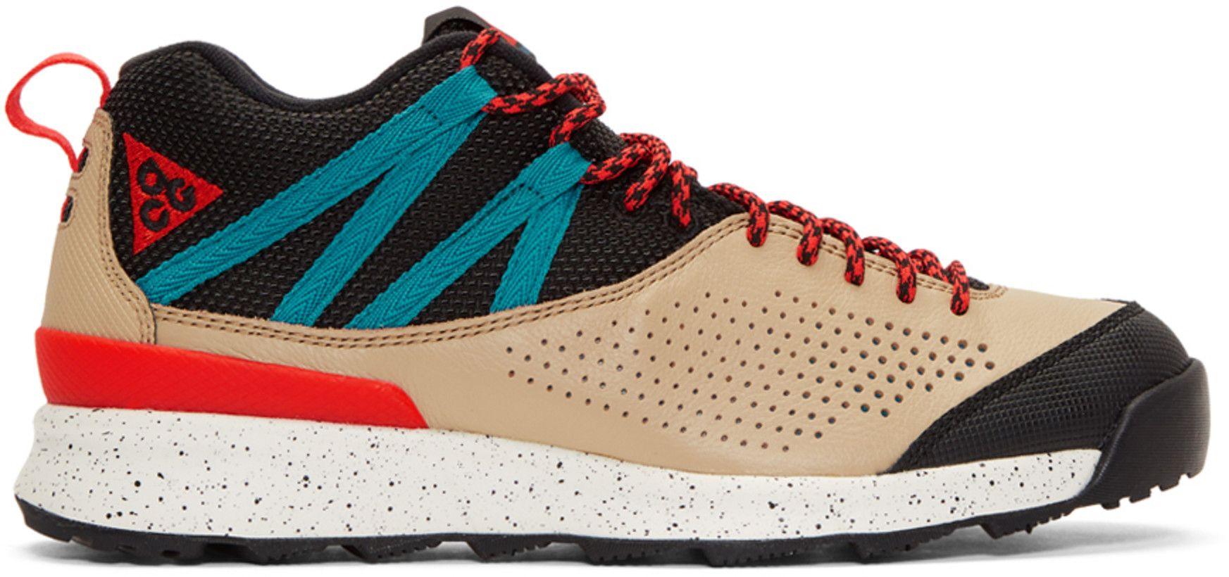 Nike ACG - Beige   Red Okwahn II Sneakers  09e922a61