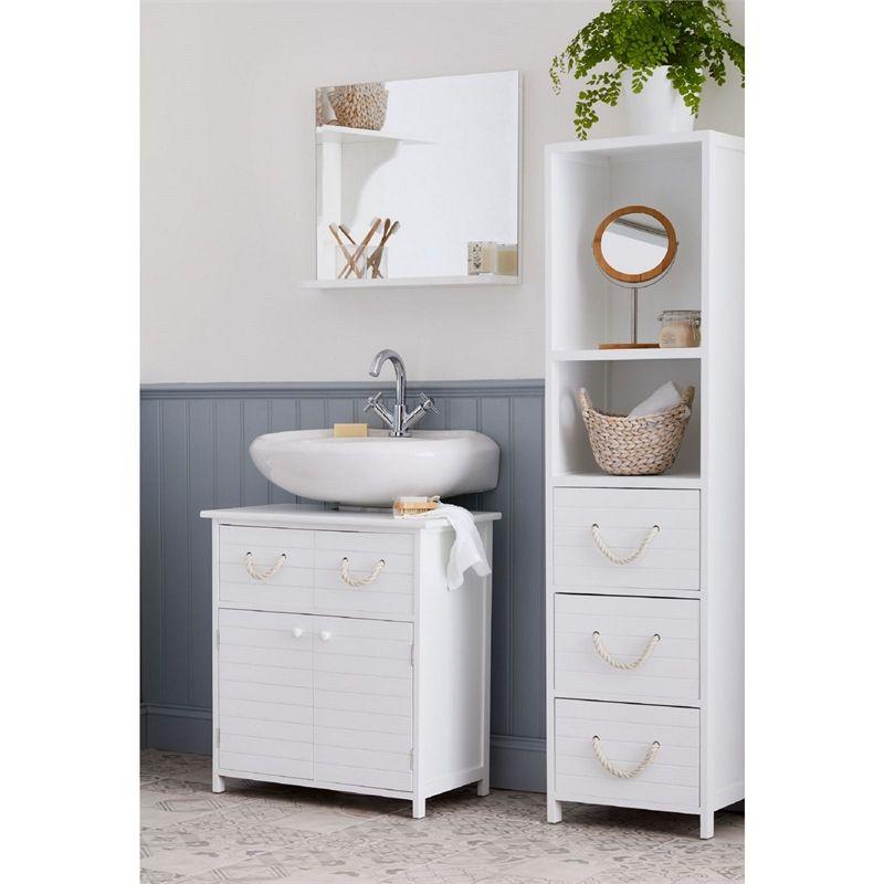 Incredible Estilo Nautical White Underbasin Bathroom Storage Unit Home Interior And Landscaping Ologienasavecom