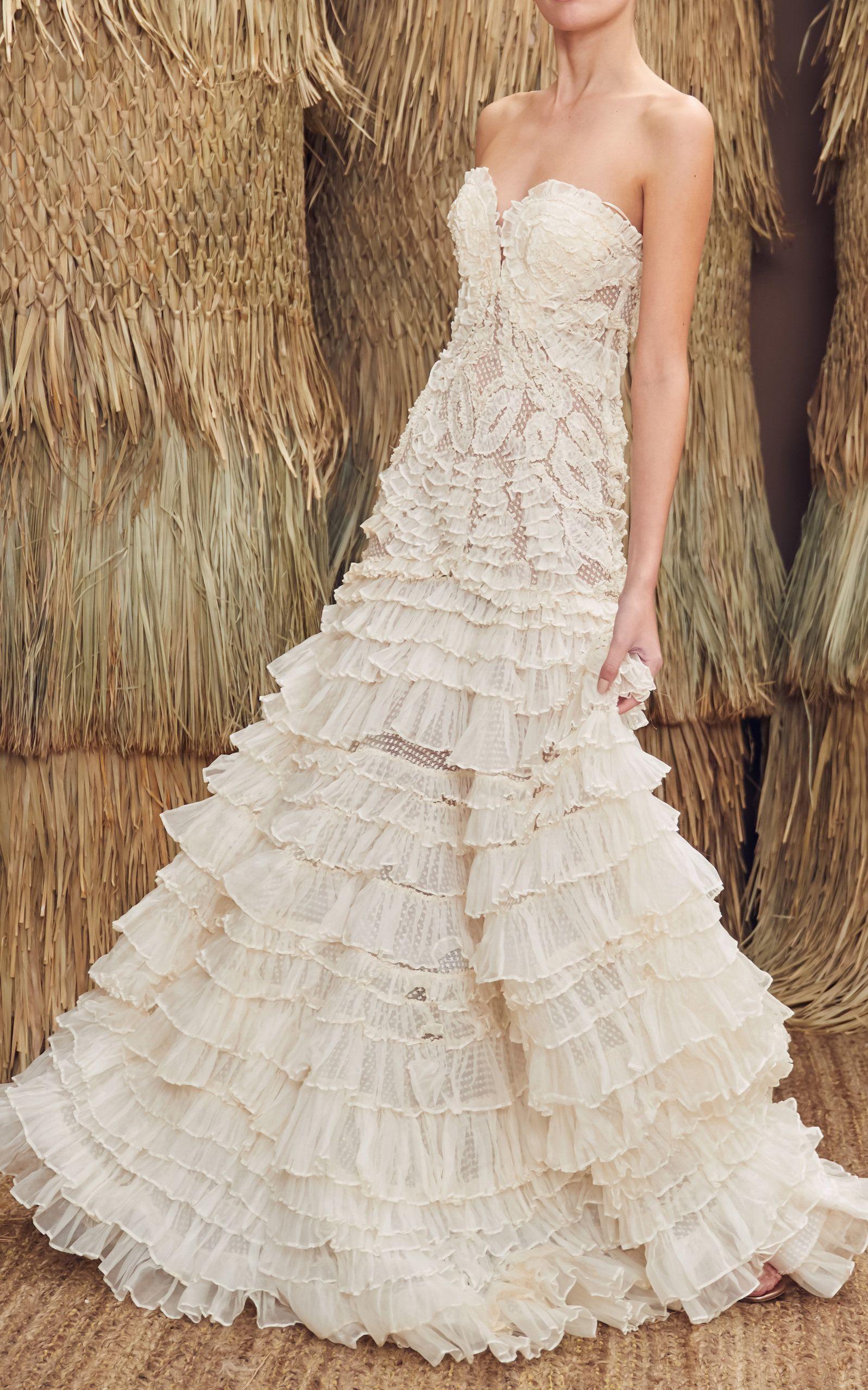 Tiered Ruffle Wedding Dress