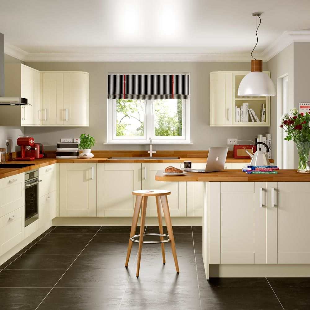 Ivory Kitchen Ivory Kitchen Slate Floor Oak Tops Google Search Pinteres