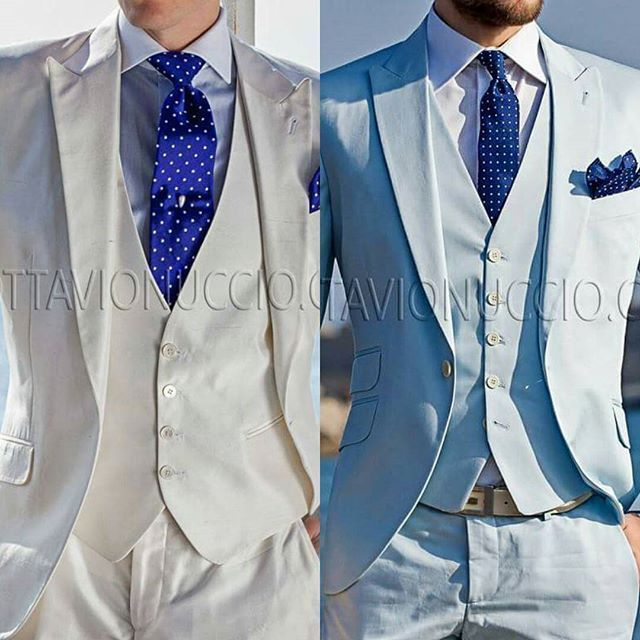 2 cotton suits for summer weddings which one you prefer  Wedding