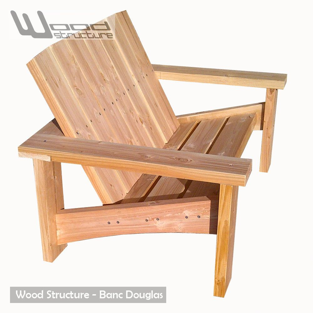 Banc Douglas - Salon de Jardin - Wood Structure Shop | Fauteuil ...