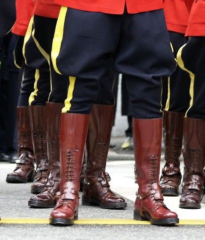 Riding boots of the Royal Canadian Mounted Police.  d6a0aefe33e