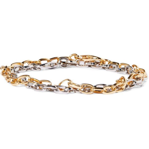 Kenneth Jay Lane Gold and silver-tone anklets (415 NOK) ❤ liked on Polyvore featuring jewelry, gold jewellery, lobster clasp charms, lobster claw charms, kenneth jay lane and gold anklet