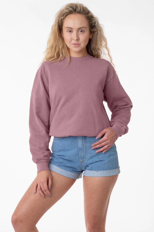 Hf07gd Unisex 14oz Garment Dye Heavy Fleece Pullover Crewneck Sweatshirt Crew Neck Sweatshirt Fleece Pullover Garment Dye [ 1500 x 1000 Pixel ]