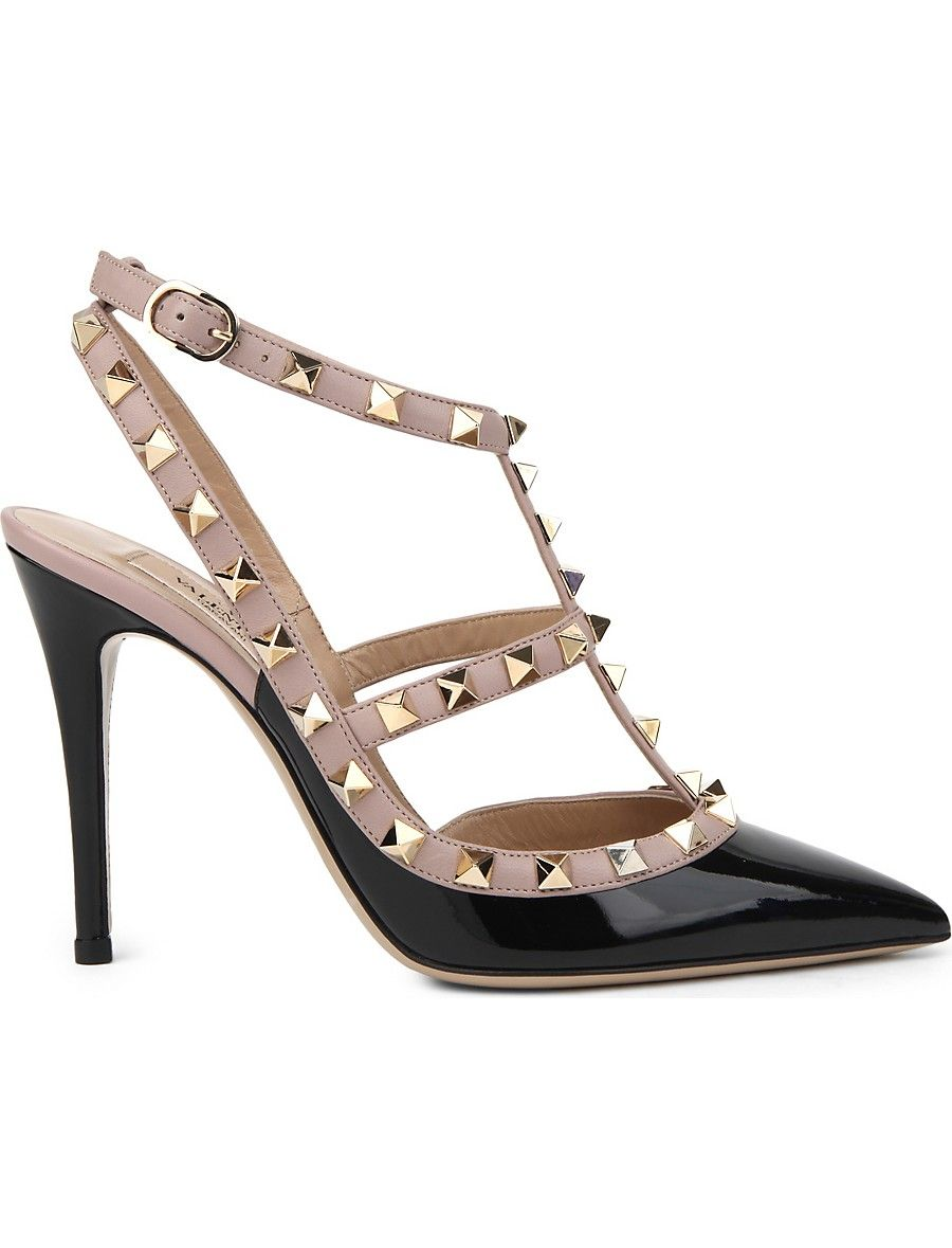 ddd1d5041552c3 VALENTINO Rockstud 100 leather courts in 2019