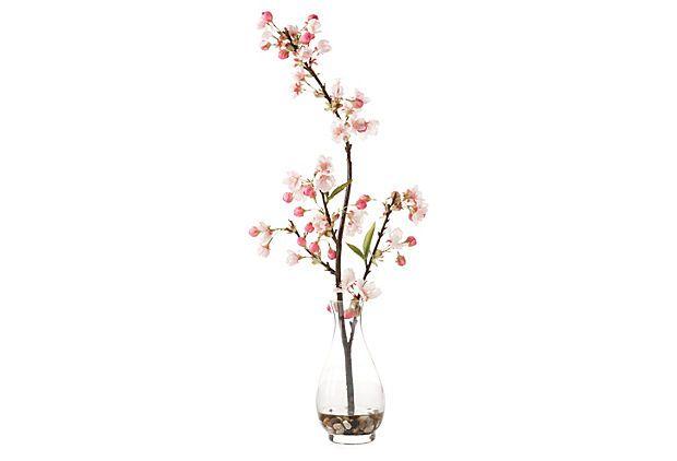 """23"""" Cherry Blossom in Glass Vase on OneKingsLane.com"""