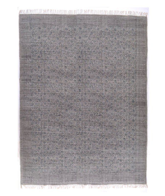 Slyvia Hand Knotted Cotton Gray Area Rug Austin