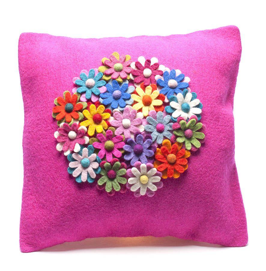 Handmade Felt Cushion Multiple Design   Pinterest   Felt cushion ...