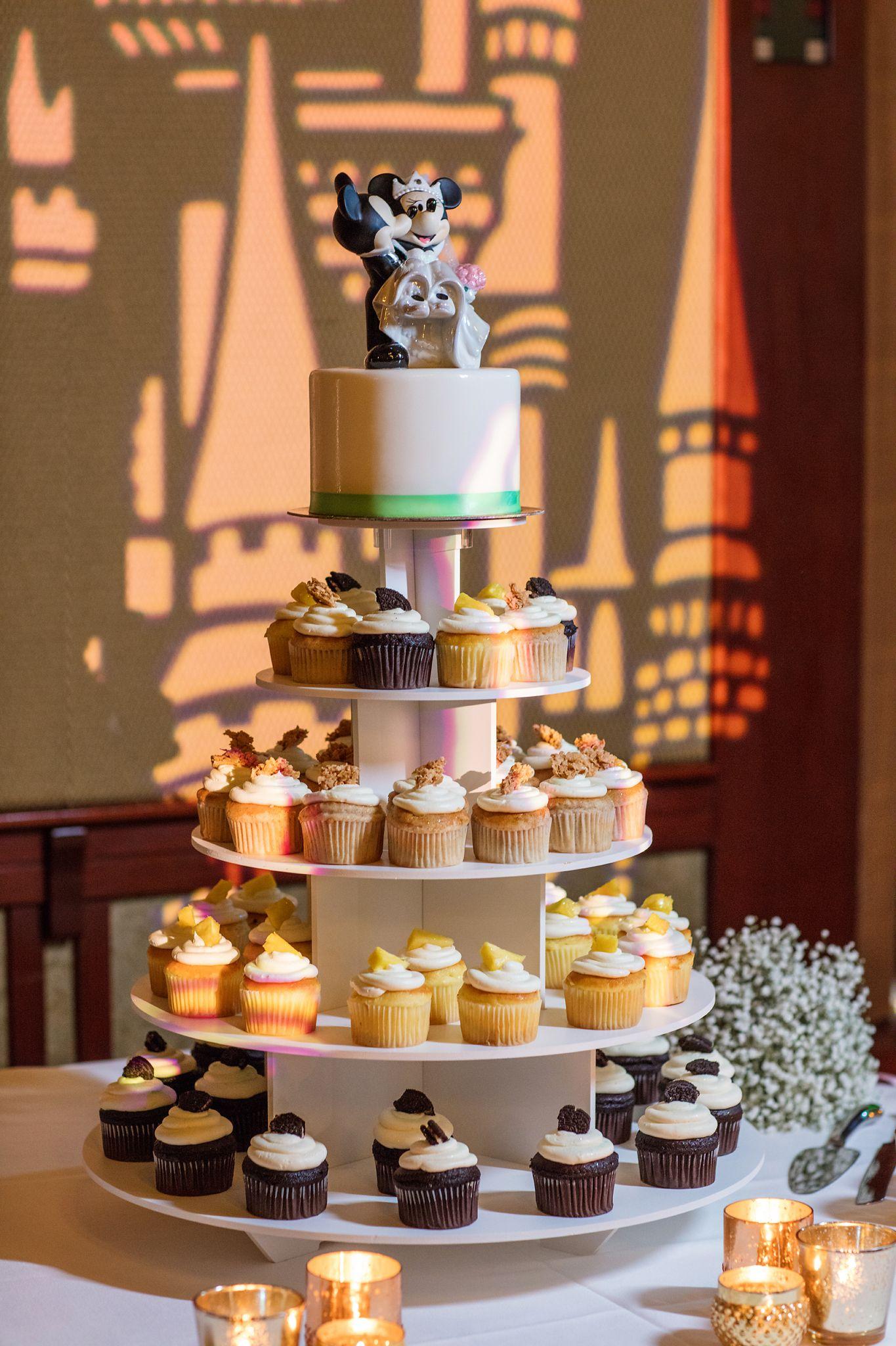 Towering Cupcakes At This Disneyland Wedding