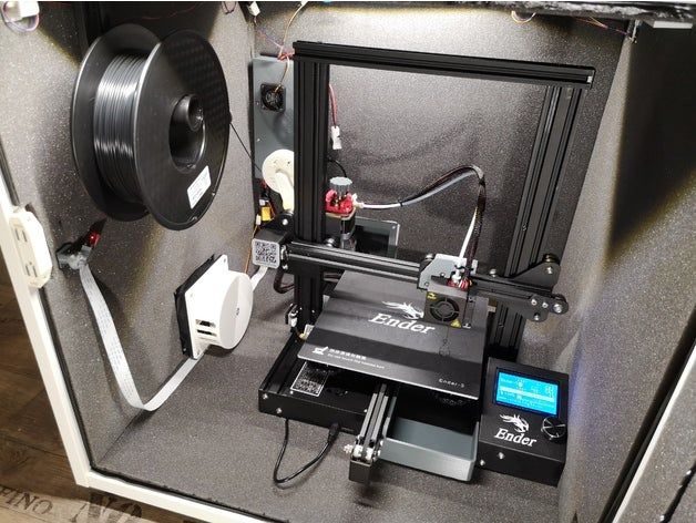 Ender3 silent Octoprint controlled Enclosure / Housing by DaBen