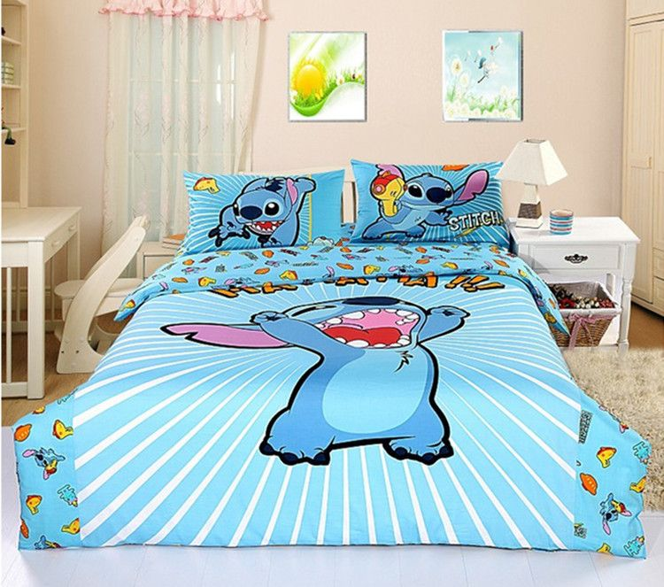 Lilo And Stitch Printed Bedding Sets, Disney Bed Sheets Queen Size