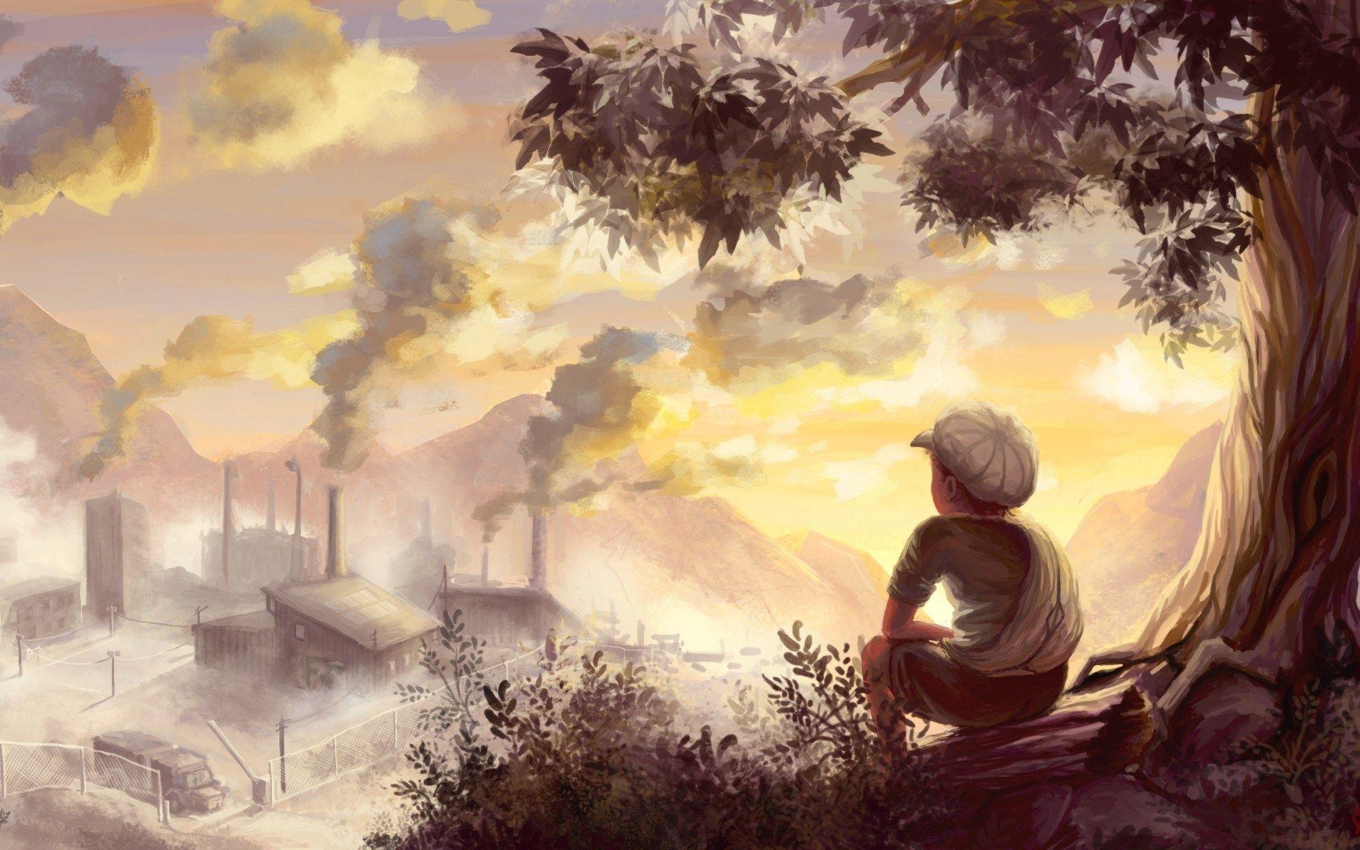 Landscape Desktop Wallpaper Drawing