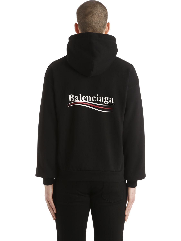 New Political logo baseball cap - Black Balenciaga RPIEtZFh9