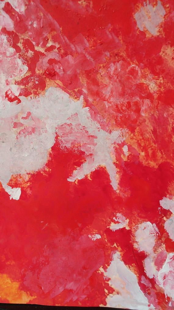 Abstract art painting print red Painting paper art modern Giclee ...