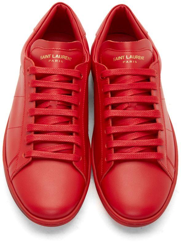 1ffb8746ce89 Saint Laurent Red SL 01 Low-Top Sneakers