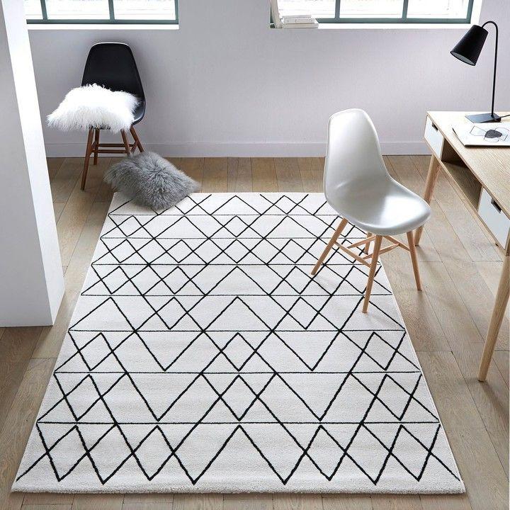 Graphique Et Sobre Ce Tapis Fedro Promotion Idées Déco - Plinthe carrelage et petit tapis berbere