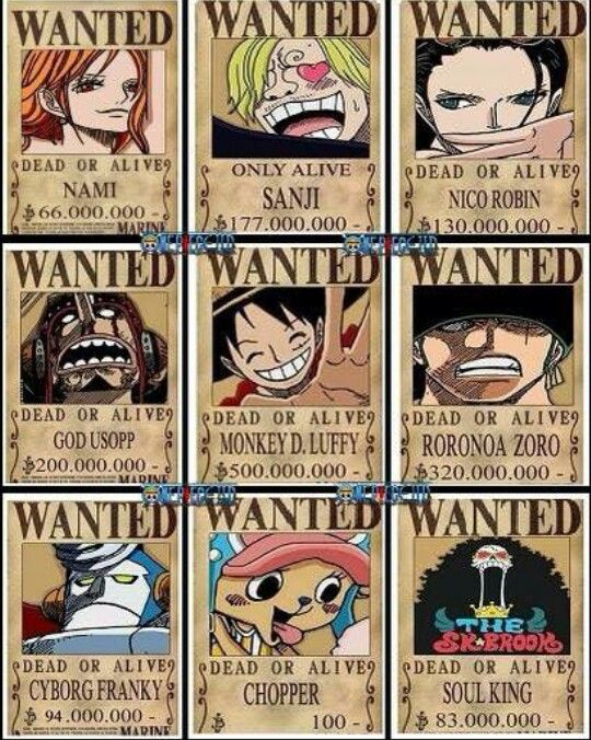 One piece new wanted posters | วันพีช | Pinterest | Anime ...