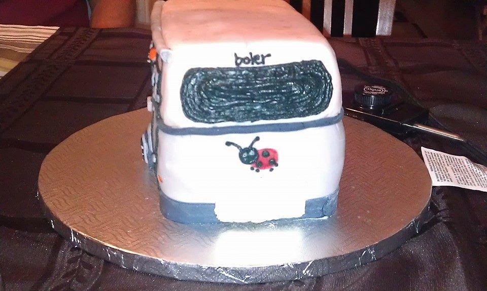 Bleu Bird boler ladybug front cake. Cake, Pure products