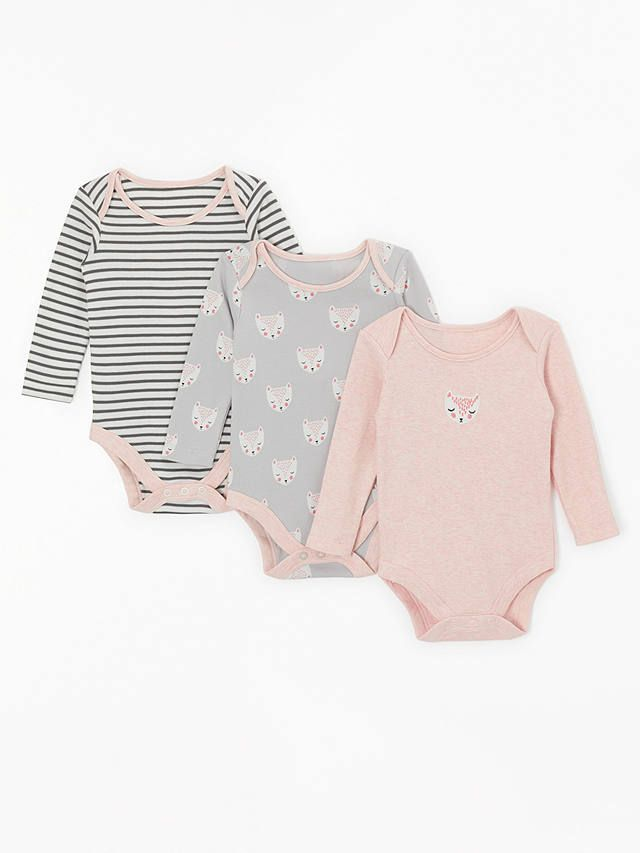 28f79f639961 BuyJohn Lewis   Partners Baby GOTS Organic Cotton Cat Face Long ...