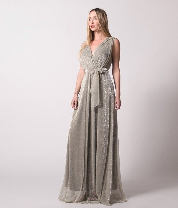 1d8dd369642 Maxi Κρουαζέ Φόρεμα Lurex - Χρυσό | Φορέματα Nostress, 2019 ...
