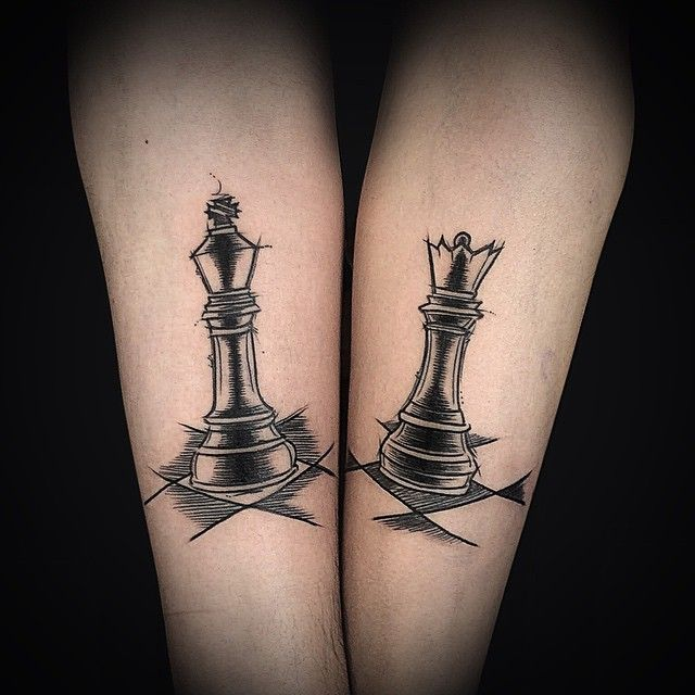 Rey Reina Tattoos Chess Tattoo Tattoos Queen Tattoo
